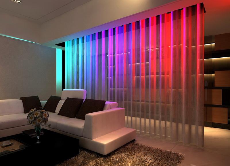 Bintronic Motorized String Fringe Curtains with LED (BT-MSC)
