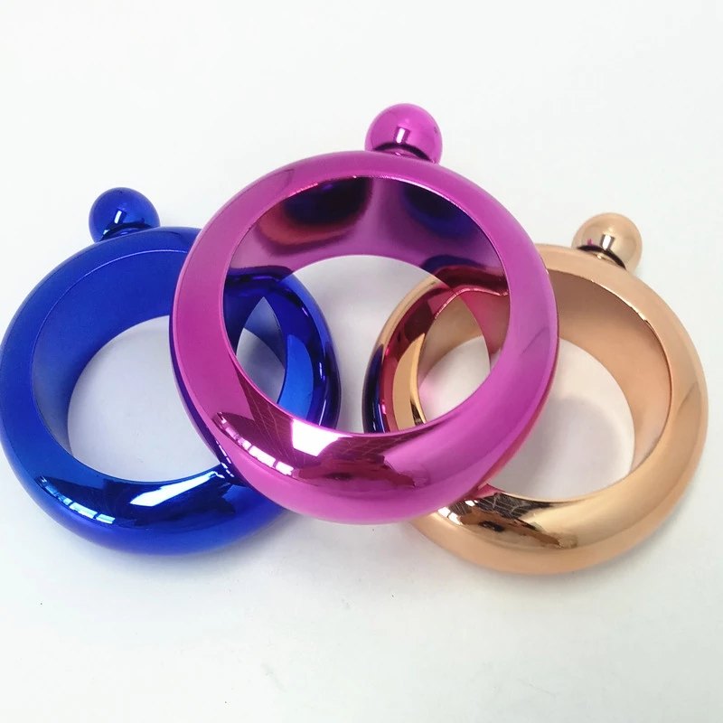 stainless steel bracelet hip flask