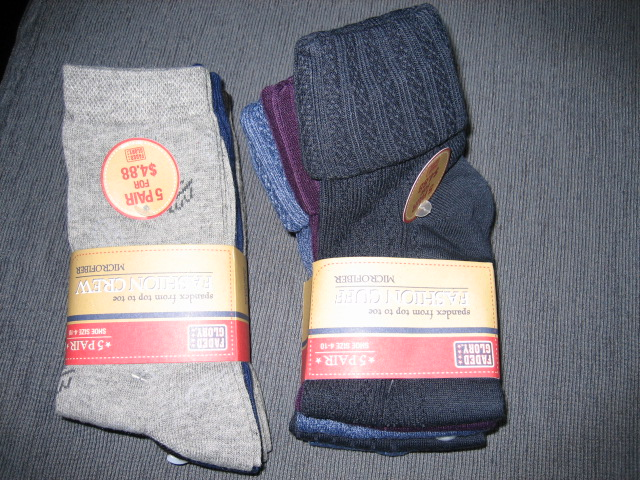 Various kinds of socks