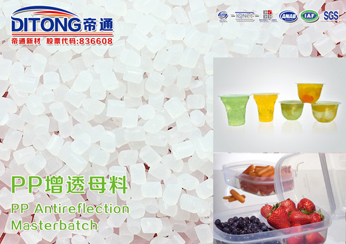 PP antireflection masterbatch for food packing case