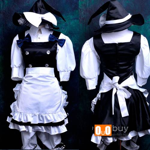 OUOBUY Anime Cosplay Costume Scarlet Weather Rhapsody Kirisame Marisa Lolita Cosplay Costume