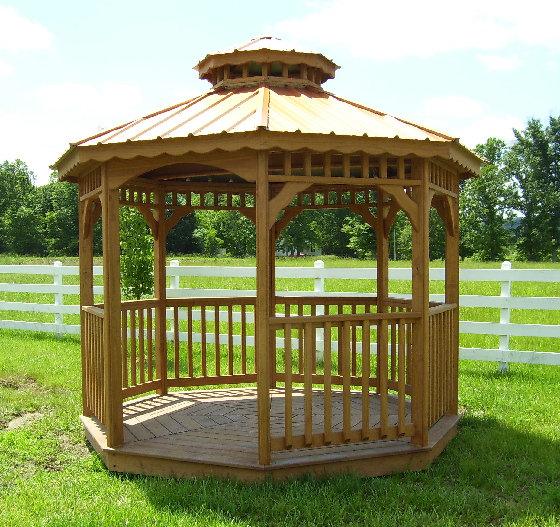garden outdoor gazebo wood