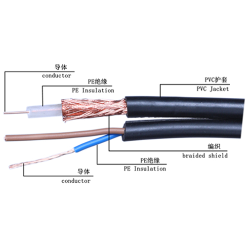 Siamese Cable SYV + RVV Combo Cable coaxial cable high quality cable