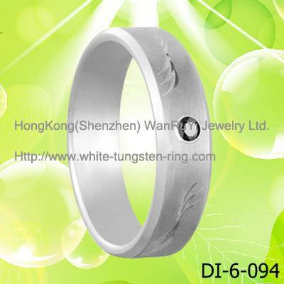 Body Jewelry Finger Ring White Tungsten Ring