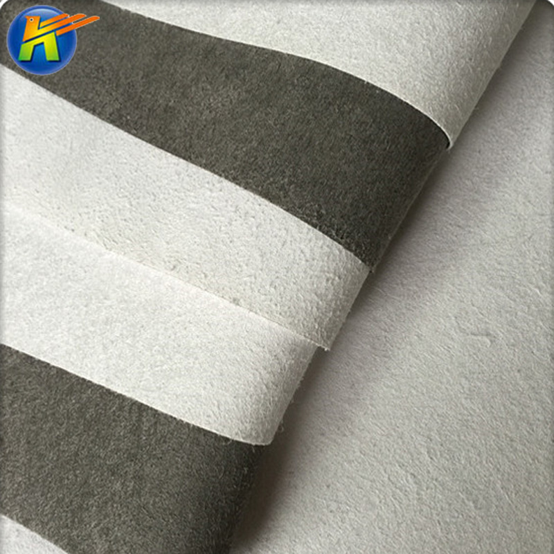 black and white microfiber non-woven base with high physical properties