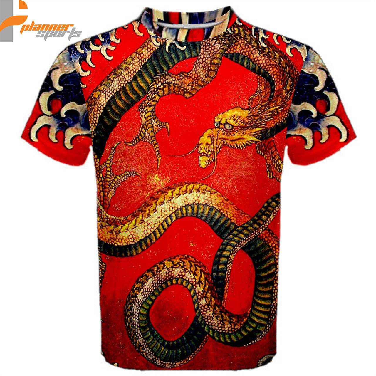 Red Dragon T-Shirt All Over Sublimation Print Chinese