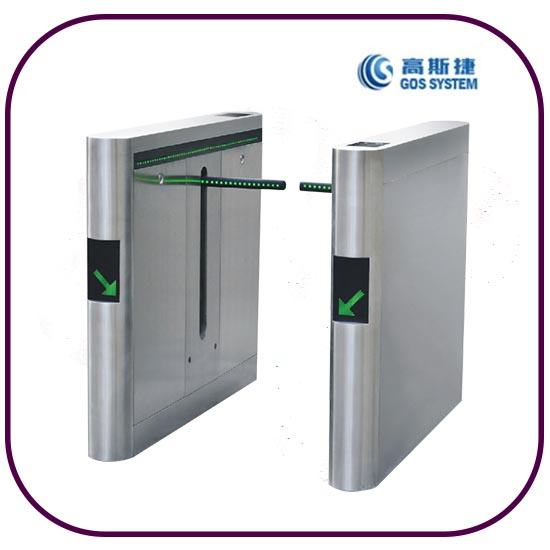 Automatic RFID Card Reader Drop Arm Turnstile