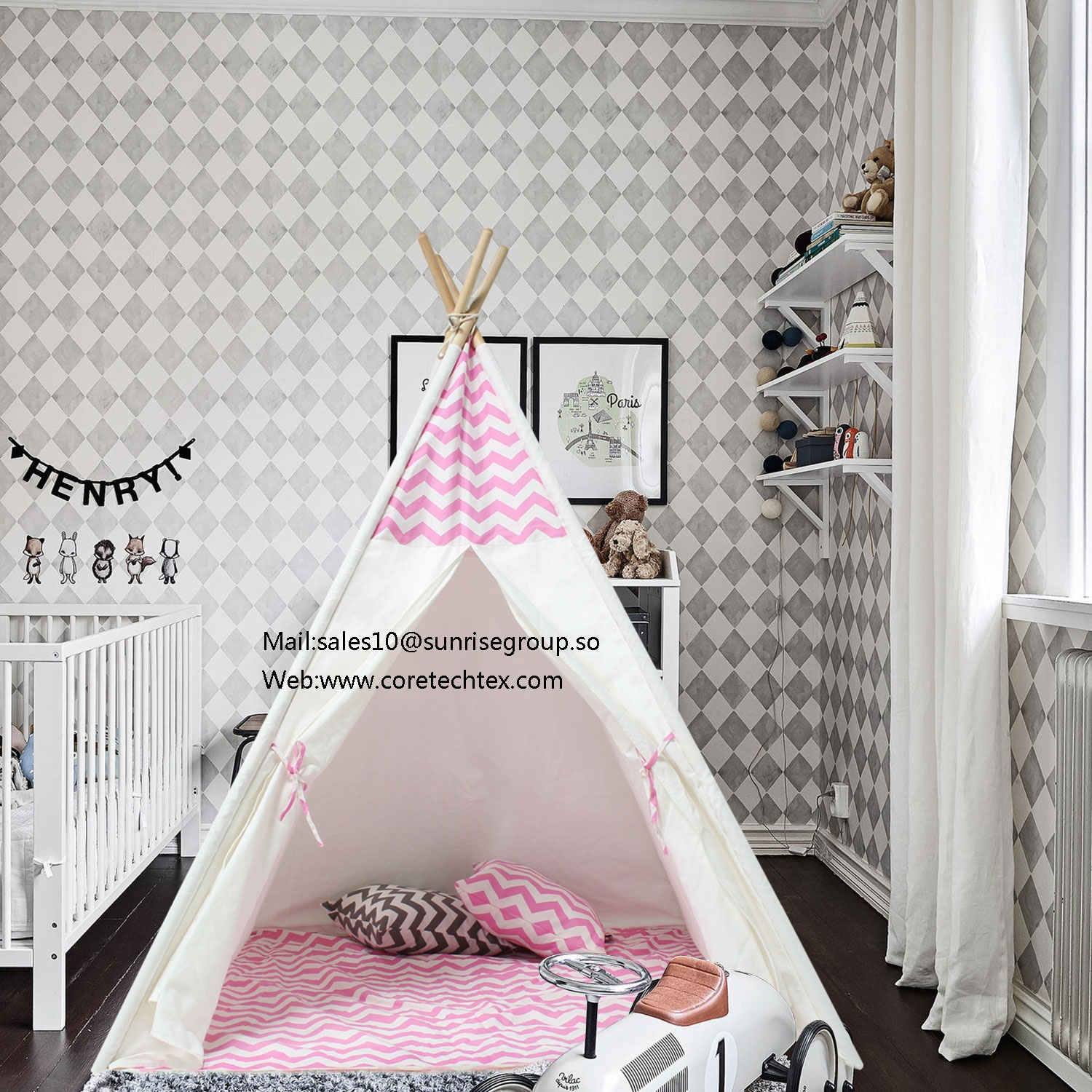 New Design Kids Play Tent Indian Teepee Children Playhouse Children Play Room