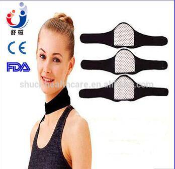 Health medical neoprene neck brace collar self-heating for pain relief