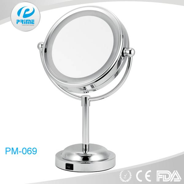 Guangdong Round desktop lighted makeup mirror with led light