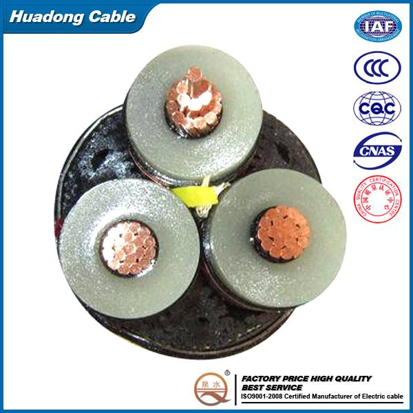 5-35kV Copper Conductor XLPE Insulated PVC Sheathed Power Cable