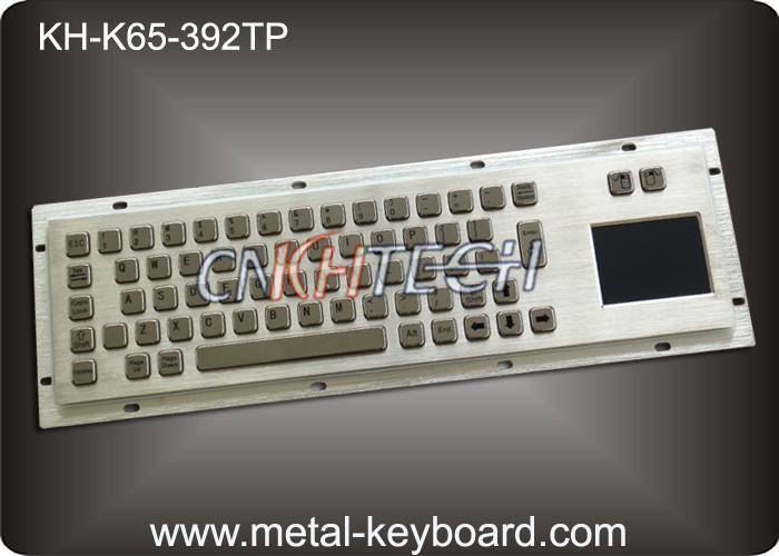 KH-K65-392TP Dustproof Industrial Computer Keyboard Metal with touchpad and mouse keys