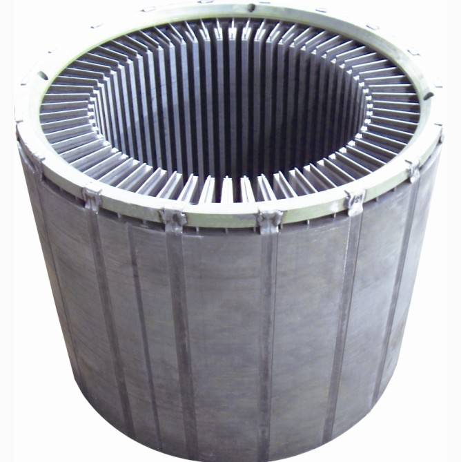 stator for low-voltage high-power motor