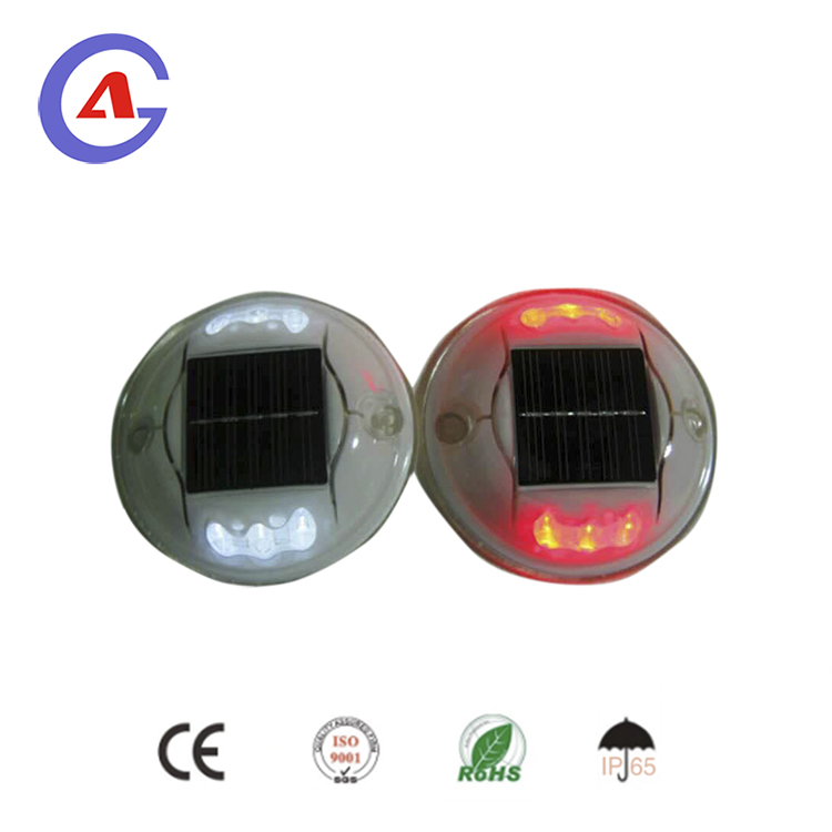 round plastic solar flashing led road stud