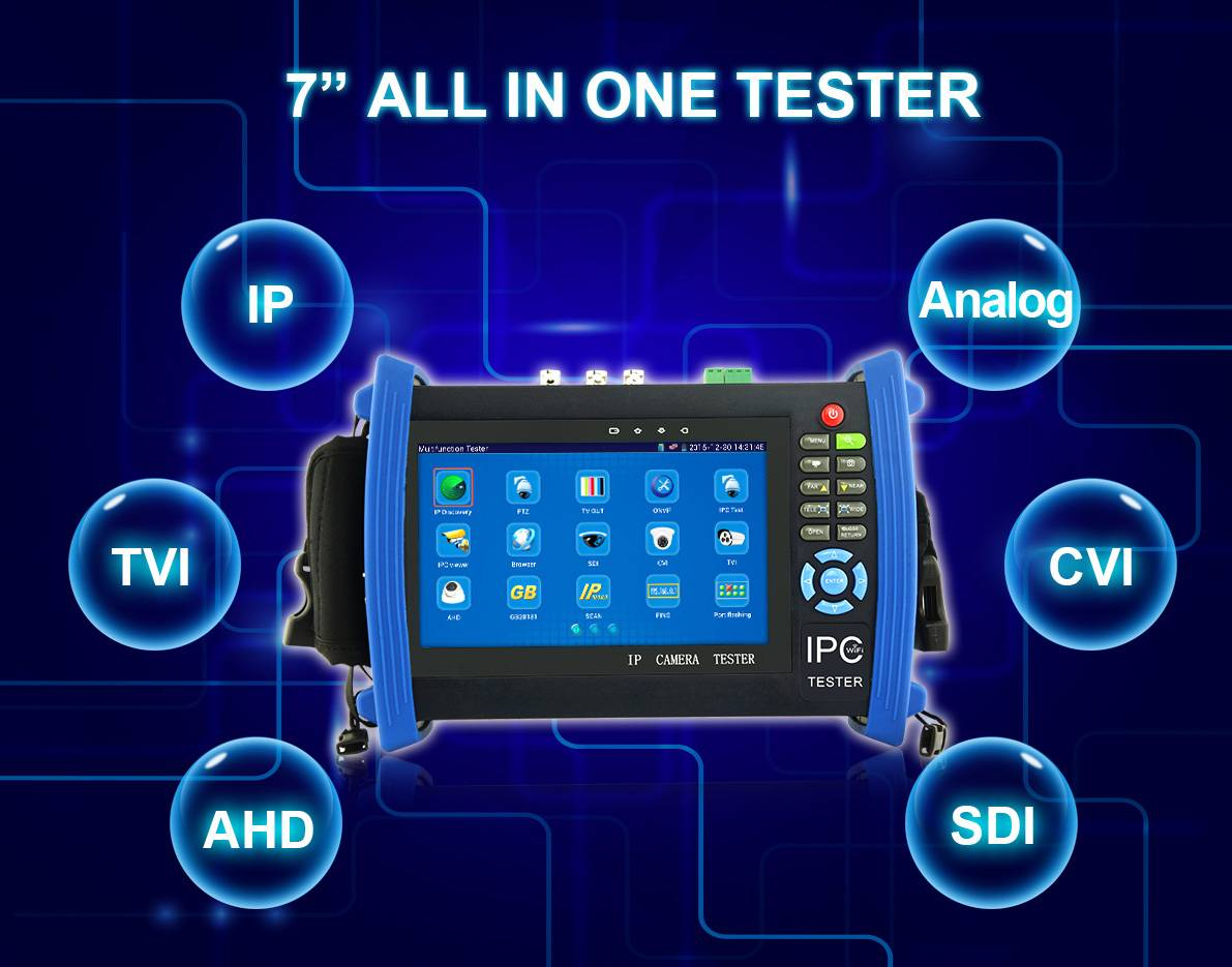 7 inch touch screen ip camera tester cctv tester