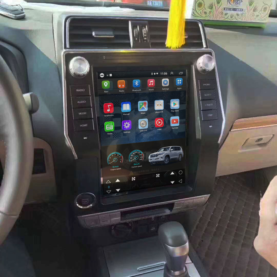 Vertical Screen 12.1 Inch Android Car Multimedia Navigation For Toyota Prado 2018