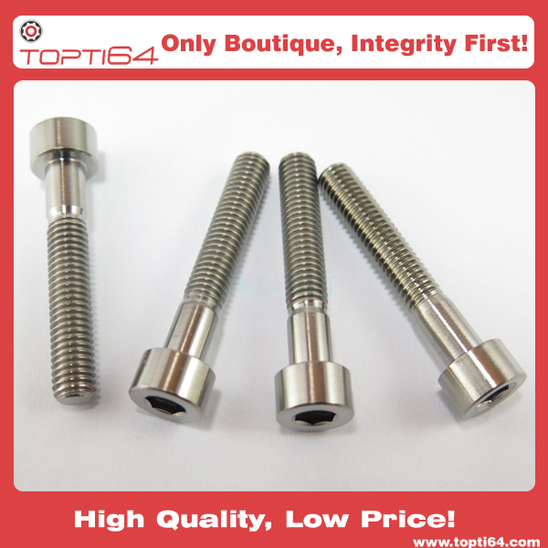 M6x30mm Titanium Alloy GR5 TC4 Hexagon Cap Socket Allen Key Screws
