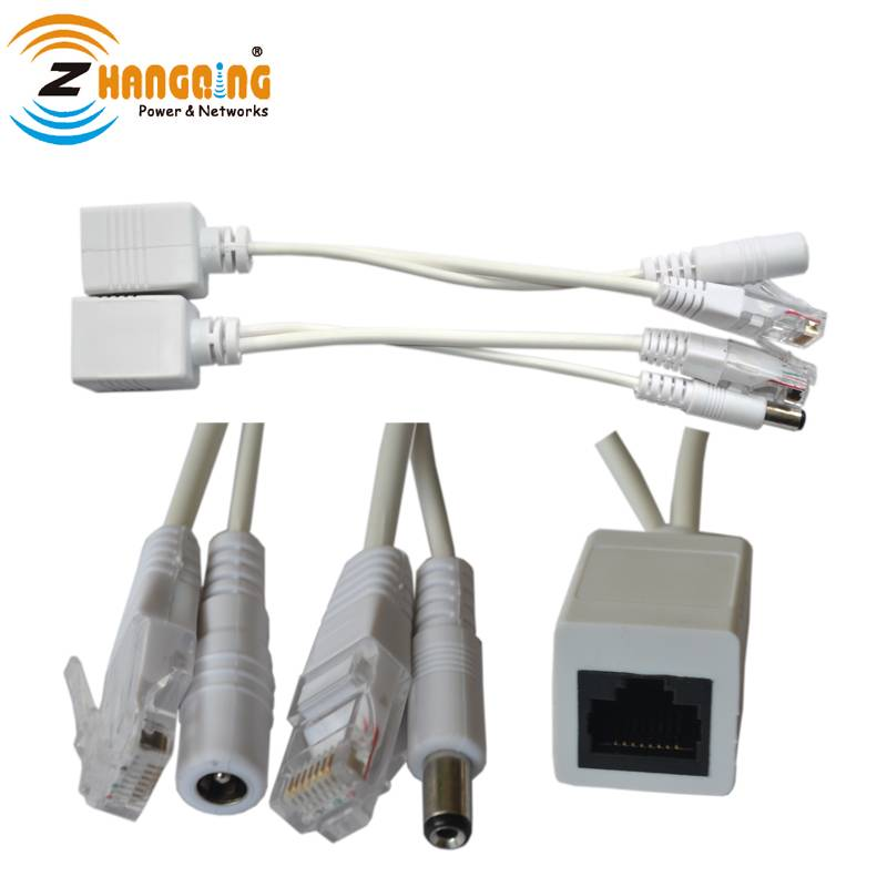 passive power over ethernet poe injector splitter cable kit