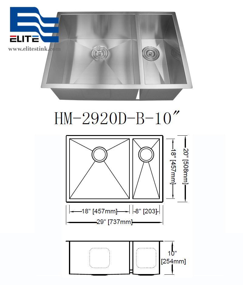 1 1/2 Stainless Steel Sink 18 gauge