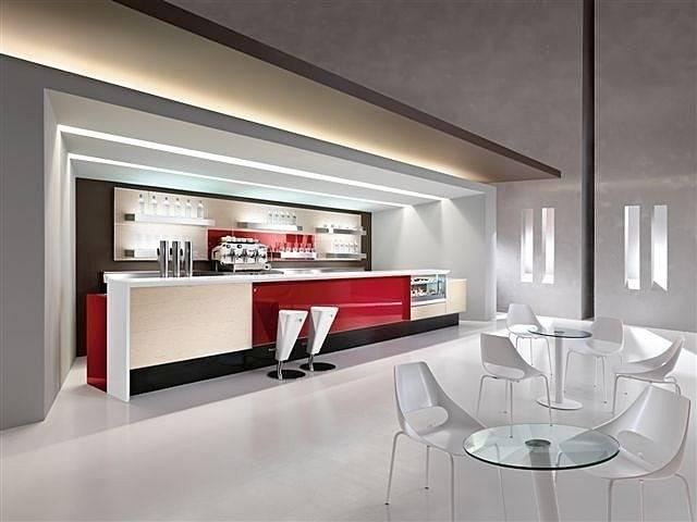 Modern cafe bar counter