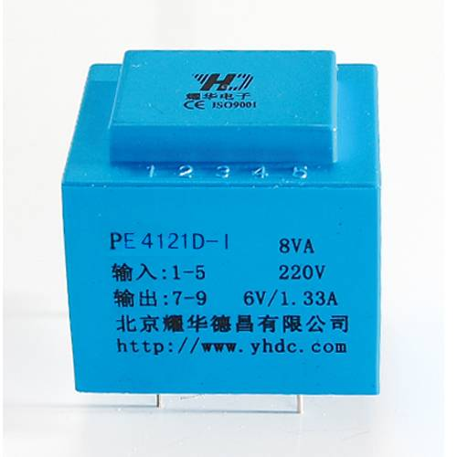 230V/6VA PCB mount EI series transformer