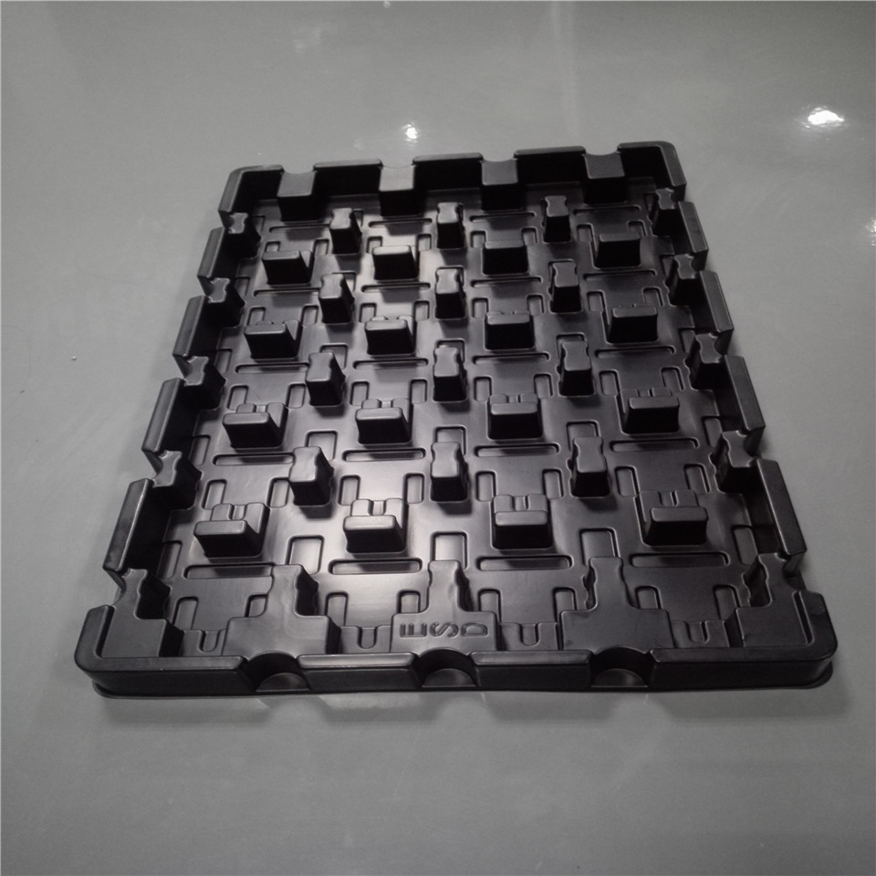 ESD Plastic Storage Blister Tray With Holes Vacuum Formed Plastic Packing