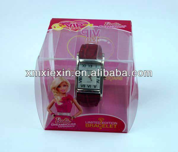 cheap small clear plastic watch box
