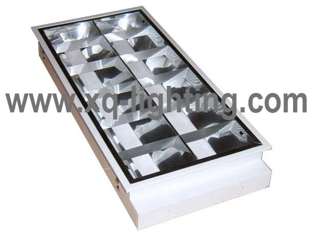 T8 2x20w grille lamp recessed type