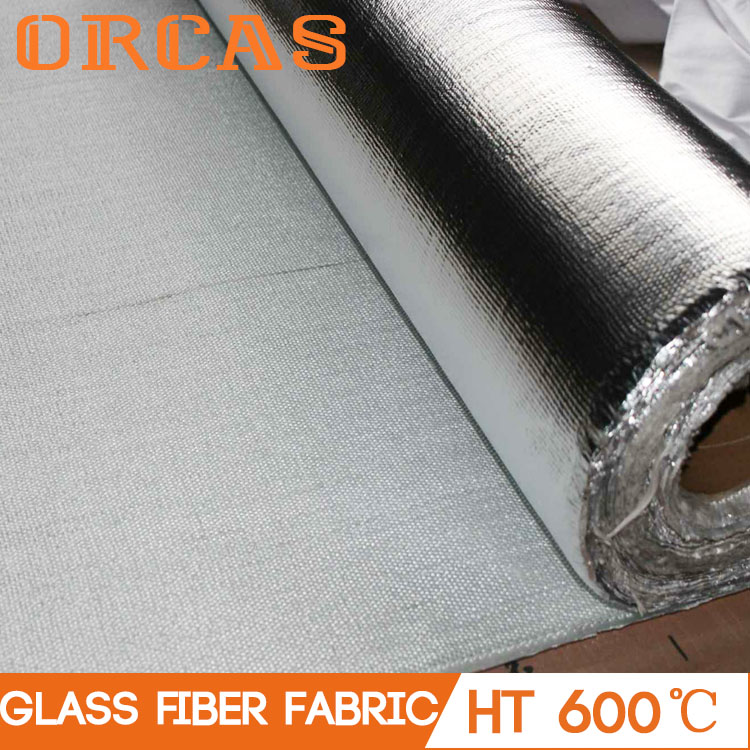 Thin heat insulation material glass fiber cloth with aluminum foil