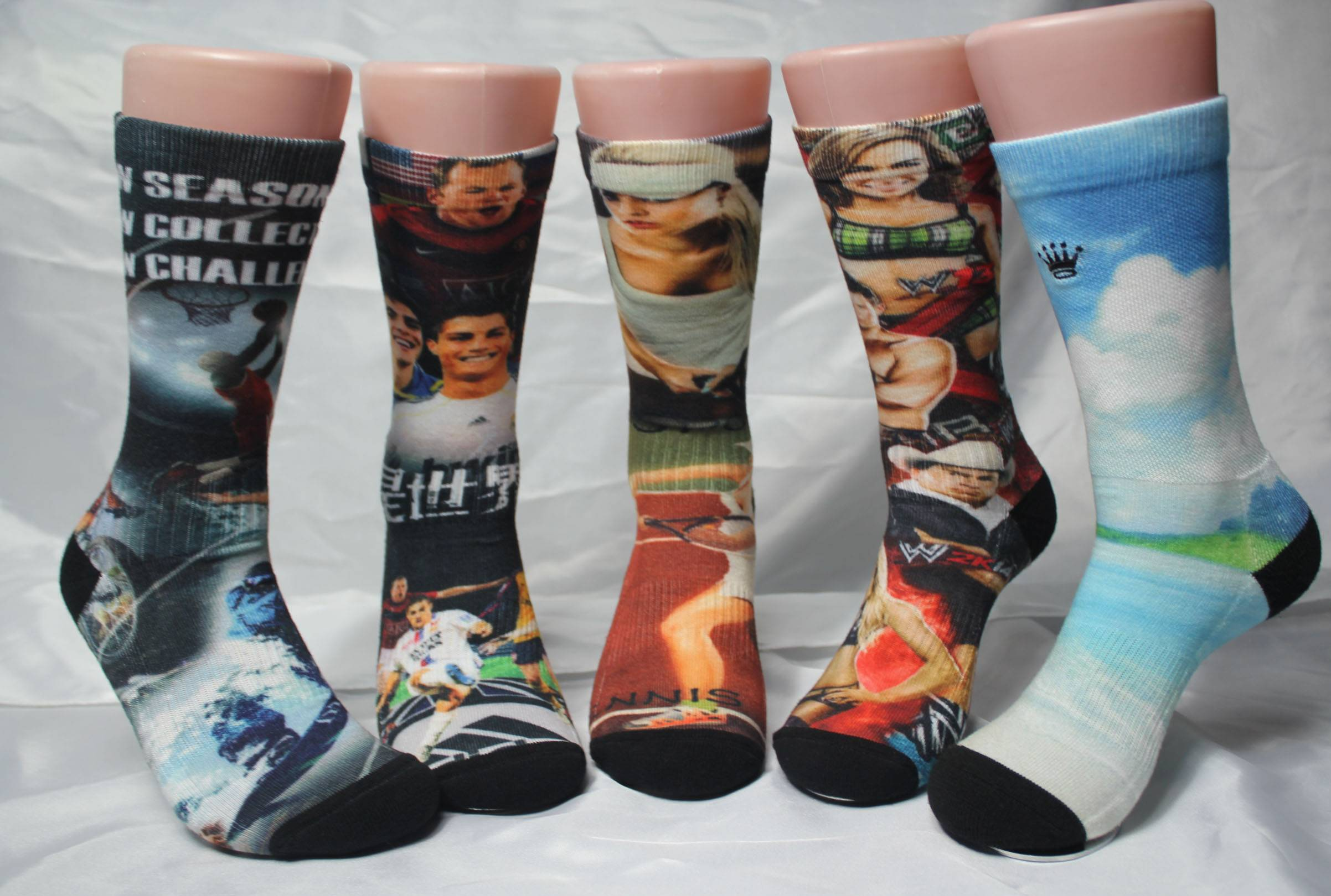 360 degree digital printing socks