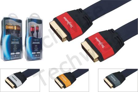 Multimedia Cable Scart male-Scart male cable(AMP618)