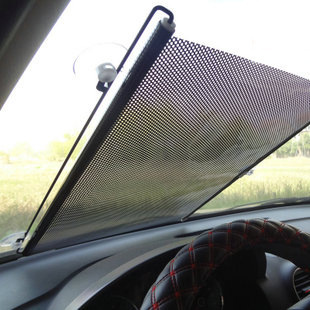 PVC mesh car Front Windshield retractable Rolling Up Shades Sunshade