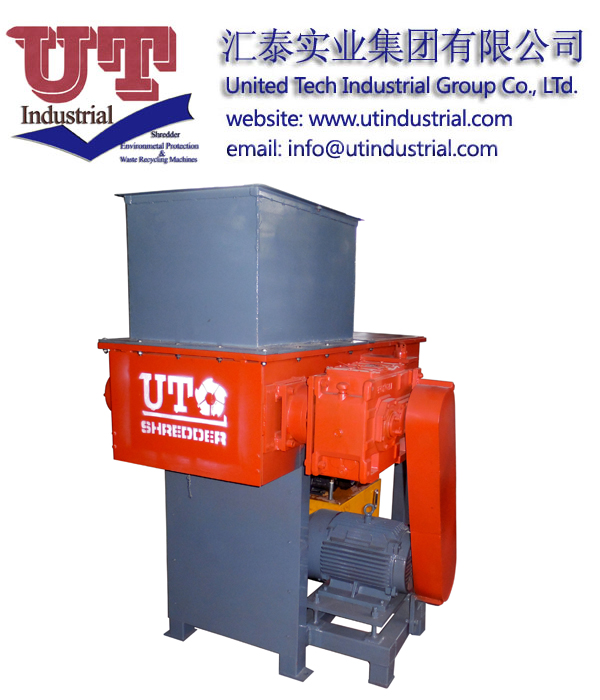 Multifuctional single shaft shredder/ industrial waste recycling machine/ scrap treatement equipment