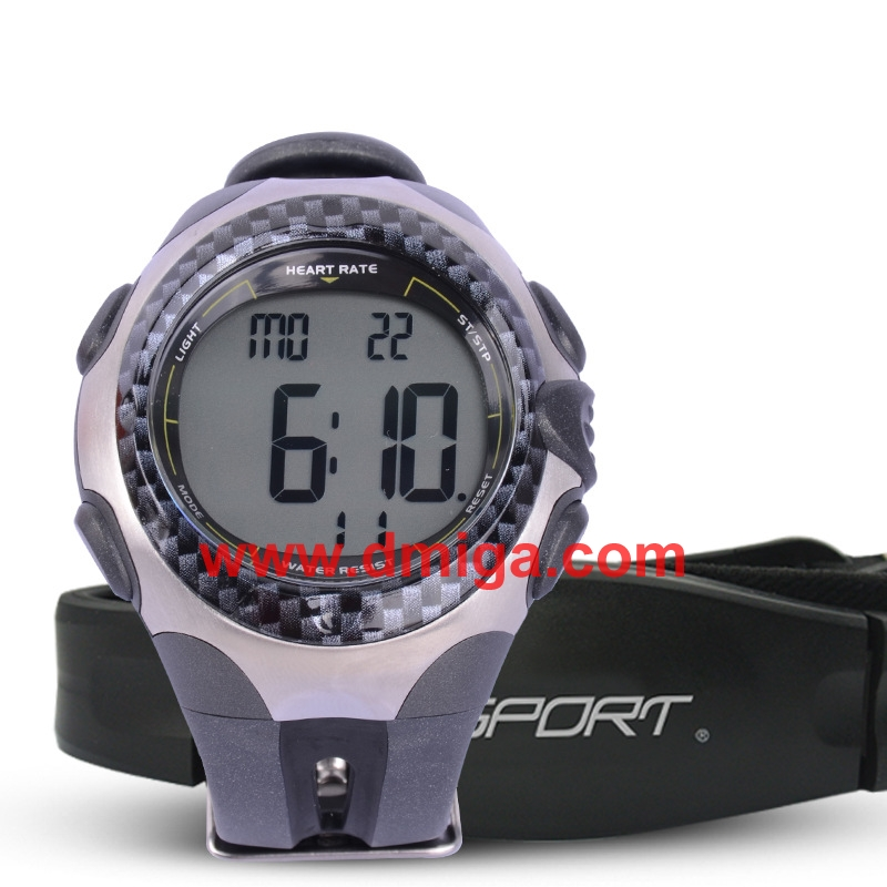 Heart rate sport watch with chest belt digital sports watch smart watch