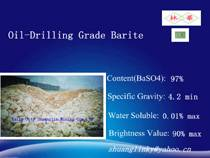 API 13A Oil Drilling Grade Barite Powder