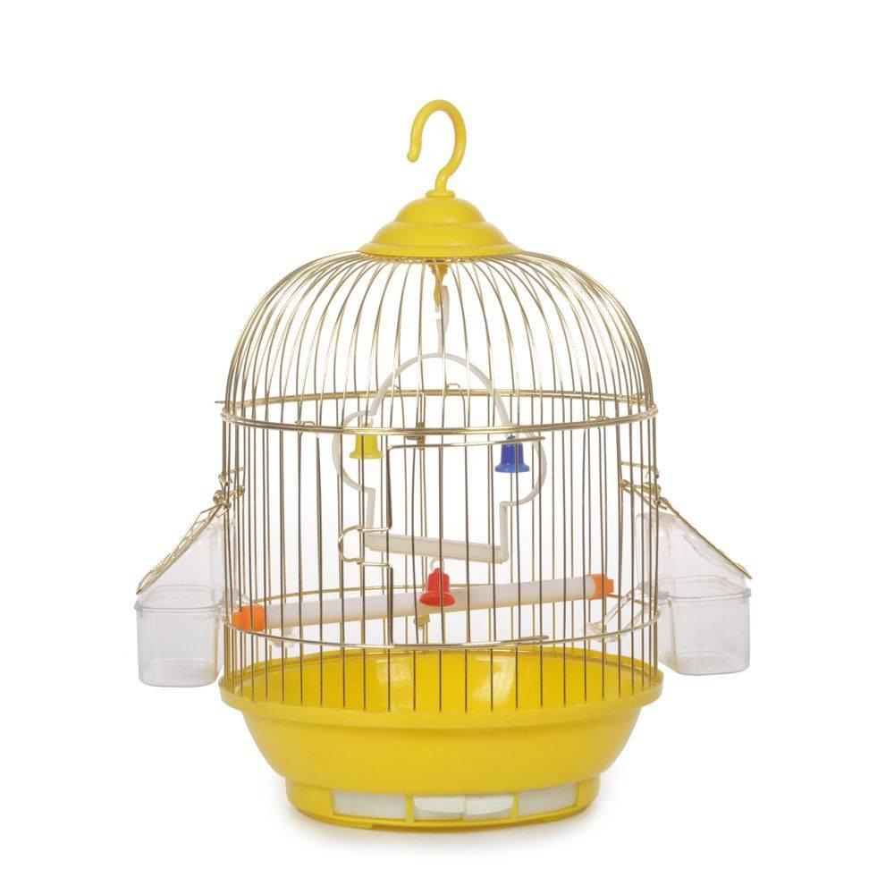 Metal golden bird cage 23X23X38CM