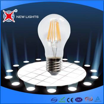 2016 Newest design 6W Led Filament Bulb, E27/B22 G95 G125 Led Filament
