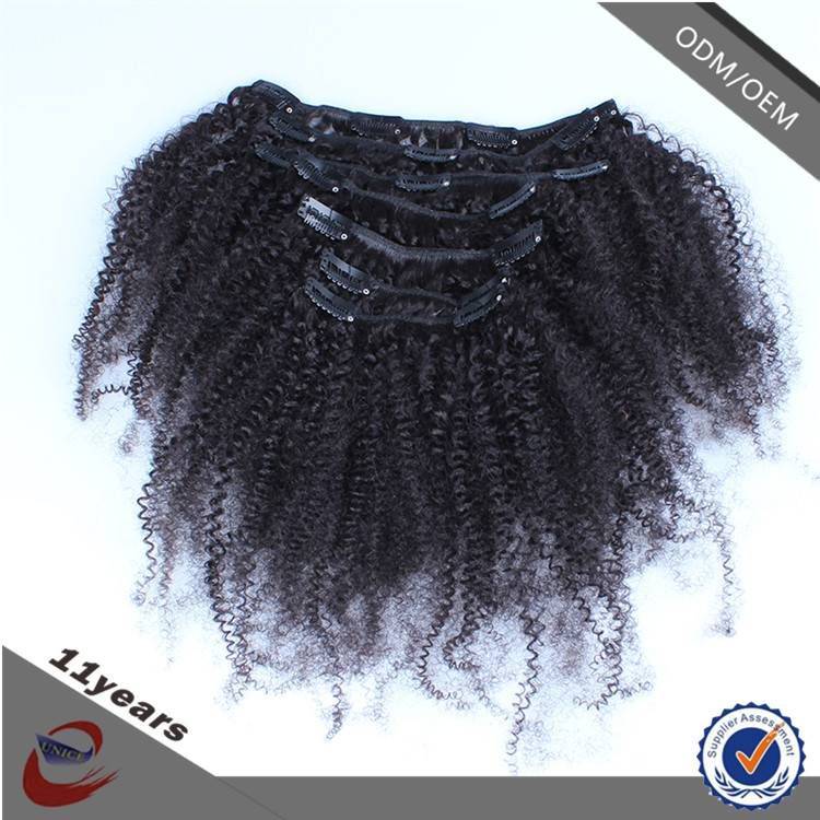 New Products 2015 Innovative Produc Afro Kinky Curly Clip in Hair Extensions