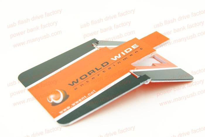 Promotional Plastic Spin Style Business Card USB Flash Drives