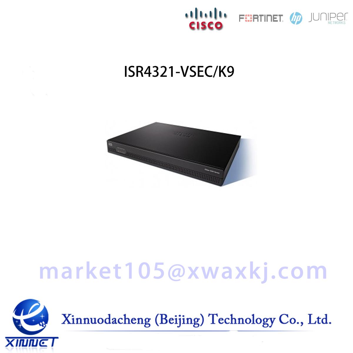 Cisco ISR 4321 Bundle w/UC & SEC License, CUBE-10 ISR4321-VSEC/K9