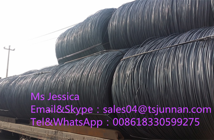 China hot rolled ms prime alloy sea1006 sae1008 low carbon high carbon steel wire rod