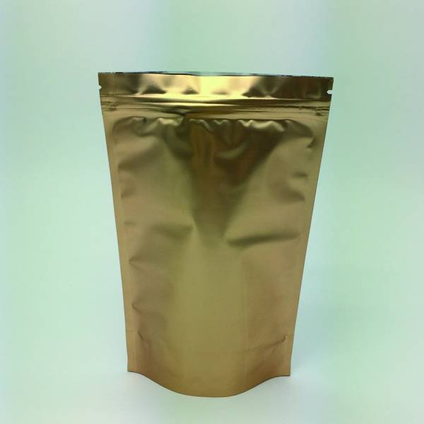 customed designed Golden printed aluminium foil zipper packaging bags