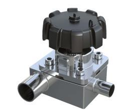 T-type diaphragm valve,T-type diaphragm valve with tee, stainless steel t type diaphragm valve sani