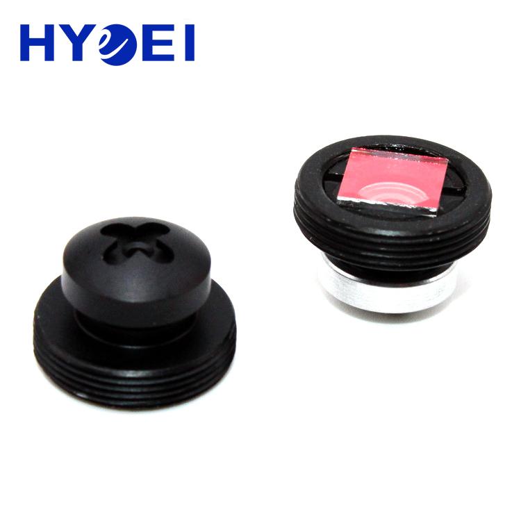 "Pinhole hidden camera lens 3.7mm 4.3mm tiny size lens M12 1/3"" screw head pinhole lens"