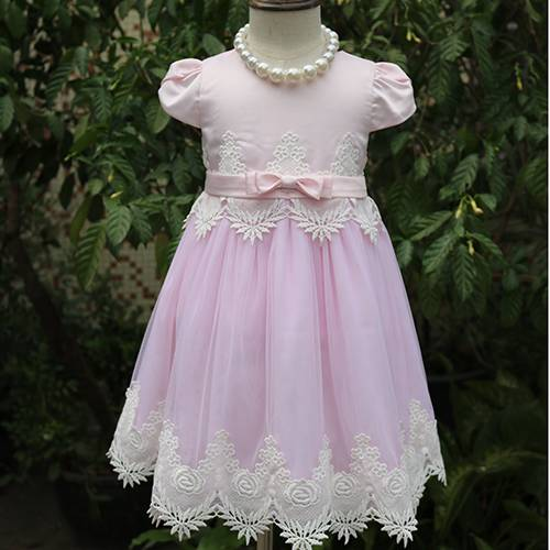 Fairy tale princess long frocks for teenagers pictures pink lace girl dress