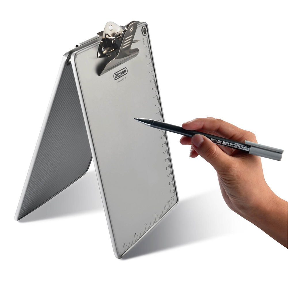 Glosen A5 Size Aluminum Clipboard Butterfly Clip C1083