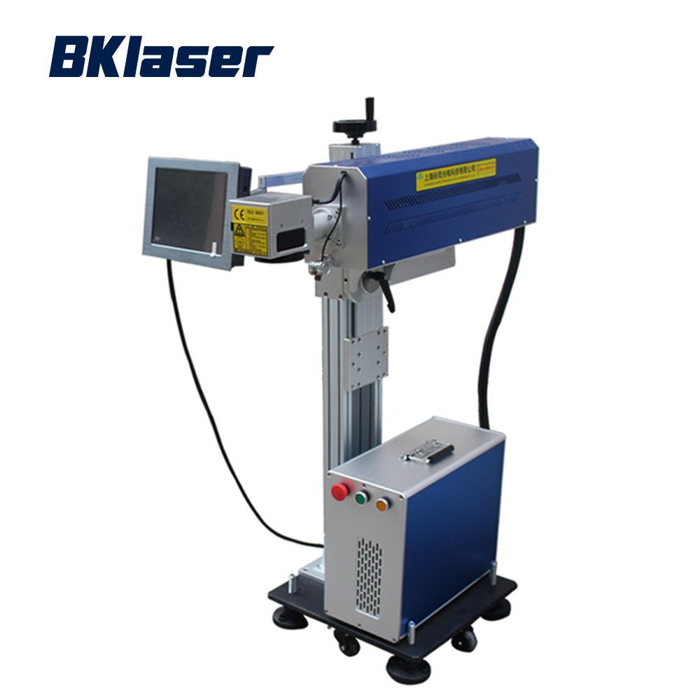 Online flying co2 laser marking machine for pet bottles