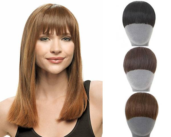 synthetic bangs fringes clip in on hair extensions