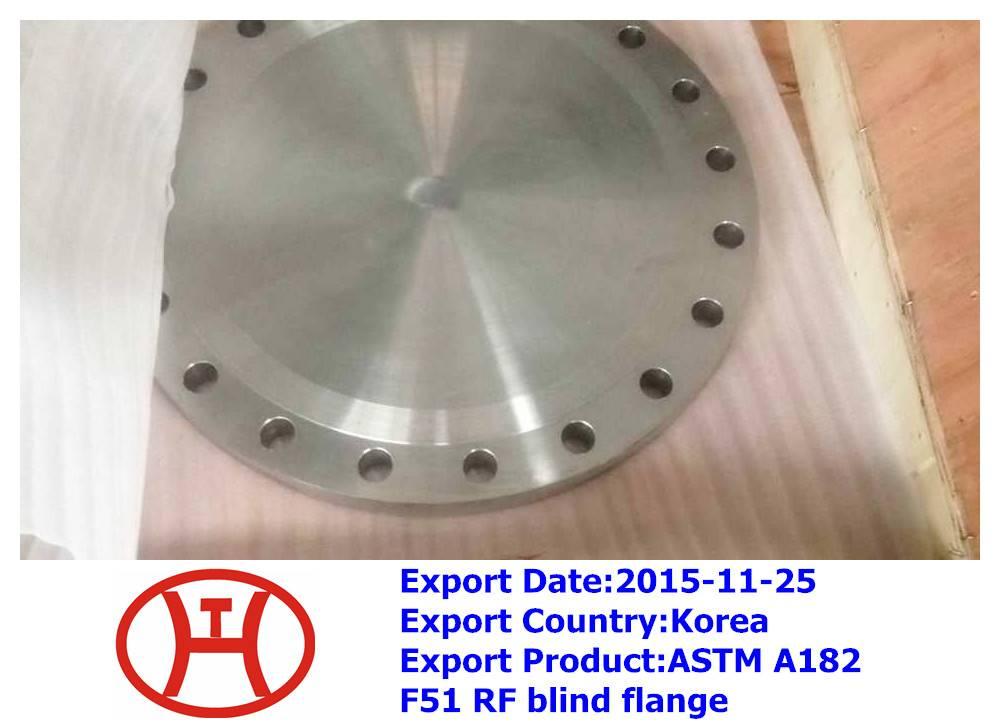ASTM A182 F51 RF blind flange