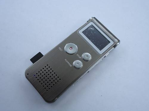 Rechargeable 8GB Digital Audio Voice Recorder MP3 Player FM